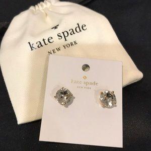 KATE SPADE STUD EARRINGS NWT CLEAR / GOLD